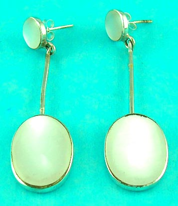 wholesale online jewelry feature sterling silver jewelry earring with mother of pearl diamond
