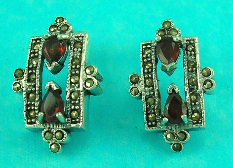online jewelry wholesale manufacture crown style marcasite stone sterling silver earring