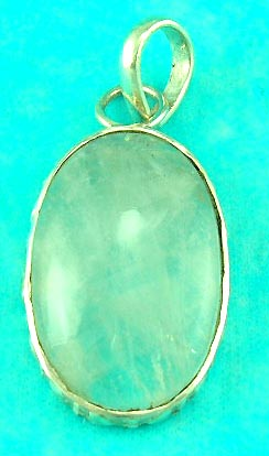 casting gemstone jewelry features oval gemstone pendant