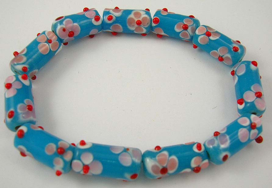 cheap body jewelry wholesale delivers blue gemstone bracelet in flower shape
