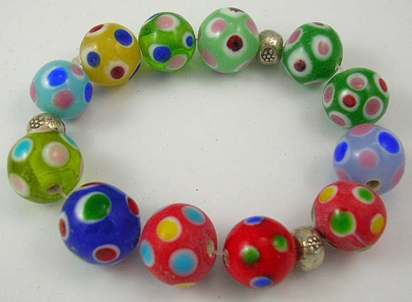 international online jewelry shop brings assorted color bracelet with dotted pattern