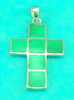 wholesale jewelry dealer delivers precious gemstone inlaid cross pendant