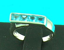 precious gem jewelry wholesale store manufactured aqua styled ring with man-made diamond