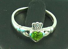 online beauty jewelry store delivers king heart style ring with gemstone inlaid, great for anniversary gifts!