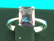 superior quality jewlery shop manufactured rectangular man-made diamond in mysterious purple