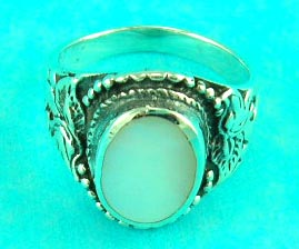 inexpensive gem jewelry store delivers round moonstone silver ring