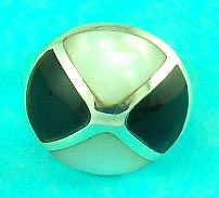 online gem jewelry club supplies round moonstone and onyx ring, great for gifts