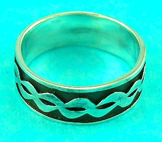 silver spring jewelry shop wholesaler release precisely carved wave designed ring, perfect gift choice