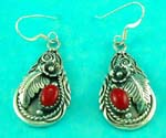 catalog jewelry wholesale presents sterling silver red gemstone earring for nature lovers