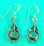 display inexpensive jewelry store supplies antique style green gemstone earring for old fashion lovers