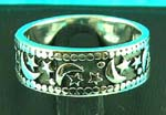 nature style jewelry wholesale group displays after dark design silver ring, great for guys and girls